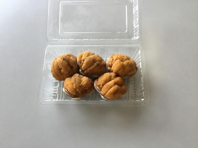 ウニの貝焼き