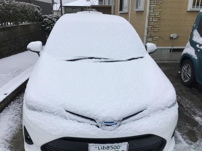 初の積雪です(゚д゚)!